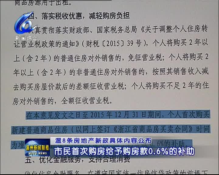 温州8条房地产新政具体内容公布