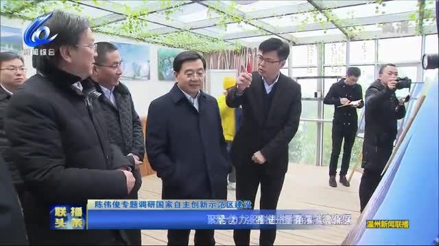 陈伟俊调研国家自主创新示范区建设