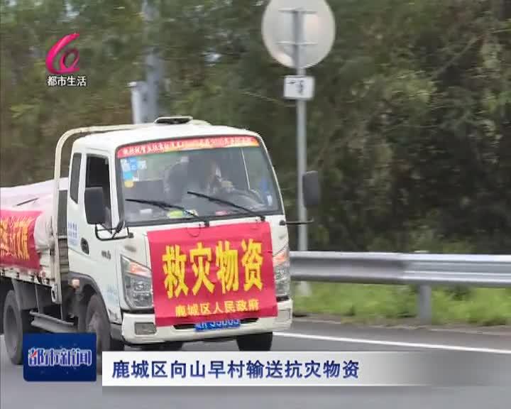 鹿城:向山早村送救災物資